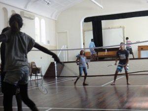 Mowanjum kids playing badminton