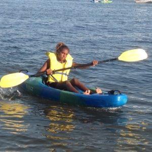 Paddling at Crawley Bay on Australia Day