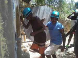 Mowanjum kids in helmets
